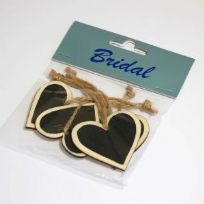Wooden Blackboard Hearts (5)